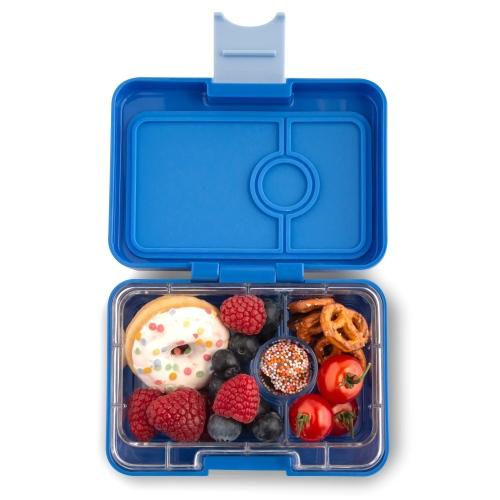 Lunchbox MiniSnack 3 vakken True blue/Toucan tray - Yumbox