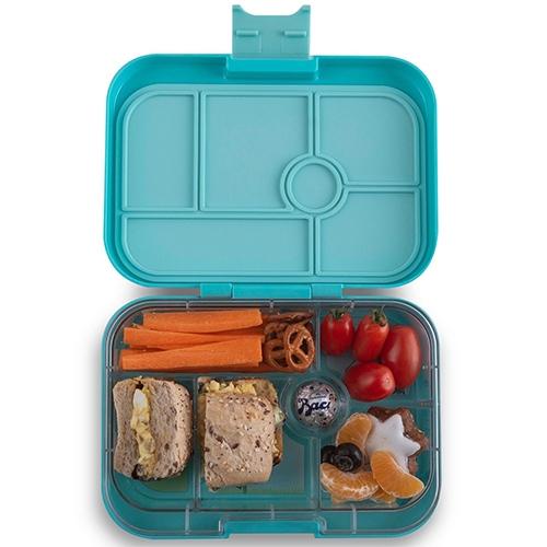 Lunchbox Original 6 vakken Misty aqua/Eenhoorn tray - Yumbox