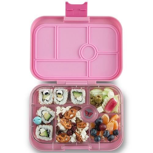 Lunchbox Original 6 vakken Power pink/Eenhoorn tray - Yumbox