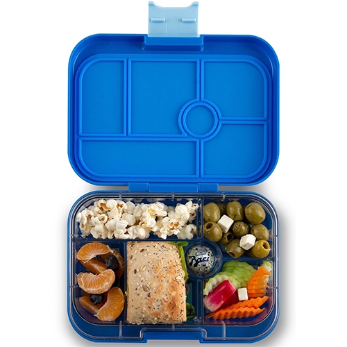 Lunchbox Original 6 vakken True blue/Funny monsters tray - Yumbox