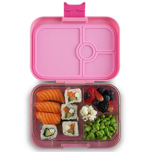 Lunchbox Panino 4 vakken Power pink/Rainbow tray - Yumbox