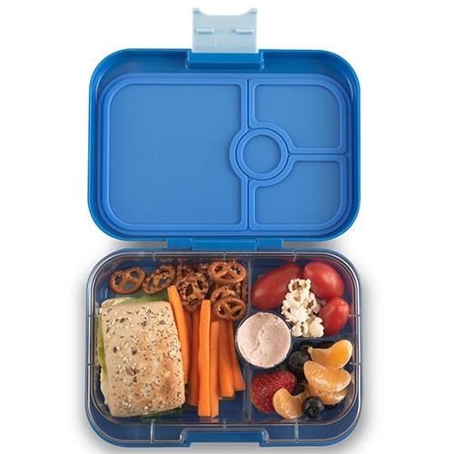 Lunchbox Panino 4 vakken True blue/Bike race tray - Yumbox