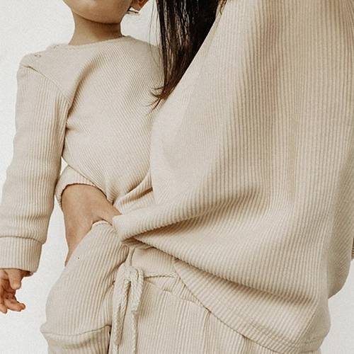 Mommy basics Two piece Beige - Tiny By Me