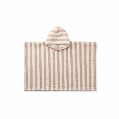 Poncho Paco Stripe Pale tuscany/creme de la creme - Liewood