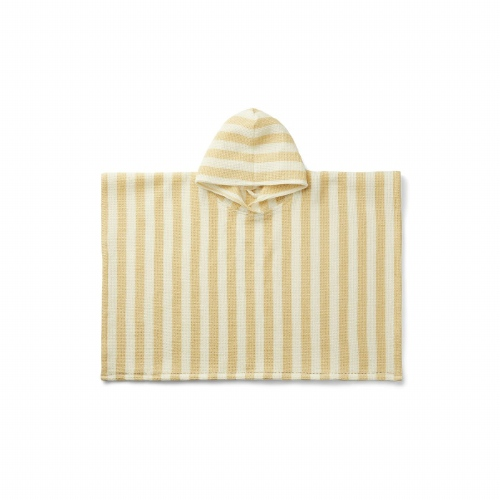 Poncho Paco Stripe Wheat yellow/creme de la creme - Liewood