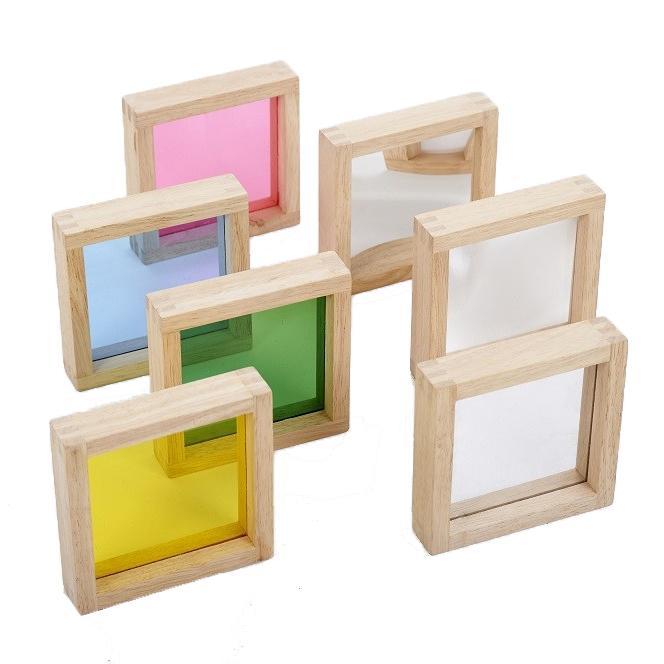 Sensorische Vierkante houten blokken set – Tickit