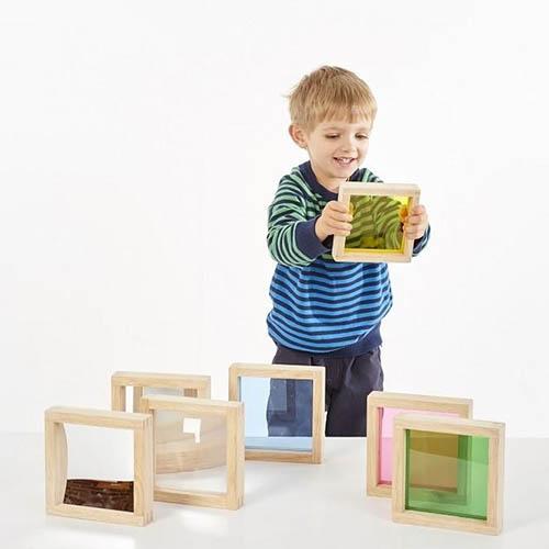 Sensorische Vierkante houten blokken set ls – Tickit