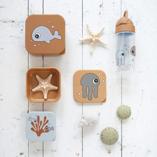 Snack box set Sea friends Mustard/Grey - Done by Deer