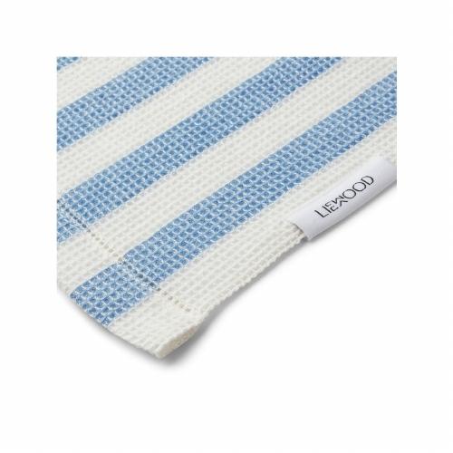 Strandlaken Macy Stripe Sky blue/creme de la creme - Liewood