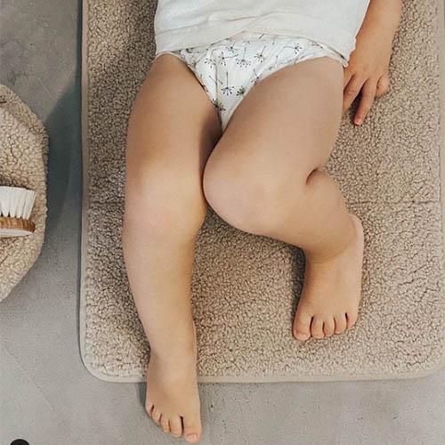Verschoonmatje Chunky teddy beige - Studio Noos