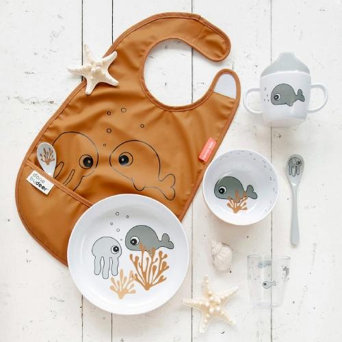 Kom Yummy Sea friends Mustard/Grey - Done by Deer