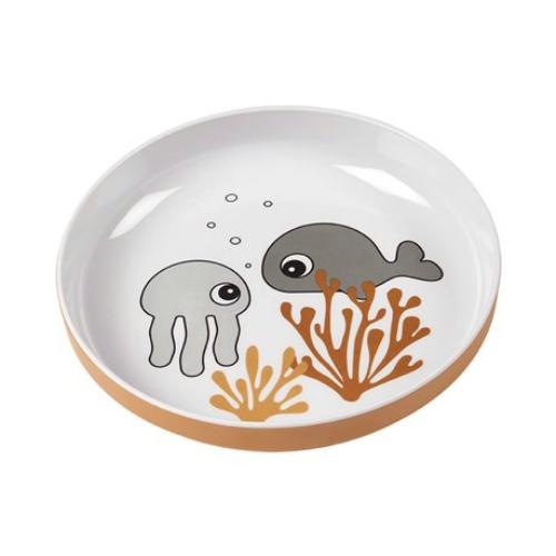 Bord Yummy Sea friends Mustard/Grey - Done by Deer