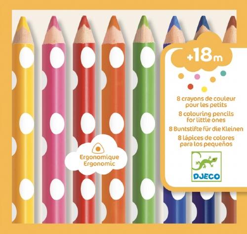 Kleurpotloden voor kleine kinderen 6 stuks - Djeco