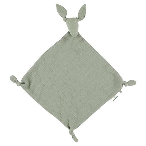 Knuffeldoekje kangoeroe bliss olive - Les Rêves d'Anaïs