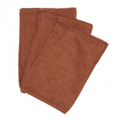 Washandjes Hazel brown (3pack) - Timboo