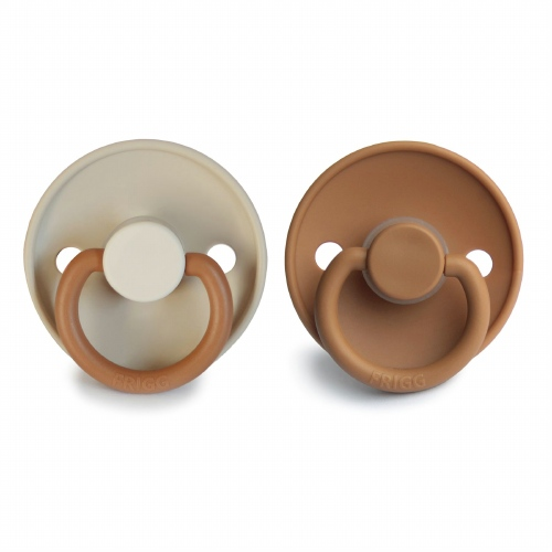 Fopspeenset T1 Color 2pack Silicone Desert/Cappuccino - FRIGG
