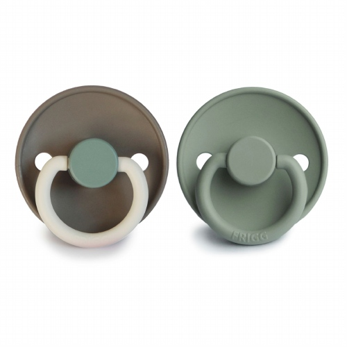 Fopspeenset T1 Color 2pack Silicone Hudson bay/Lily pad - FRIGG