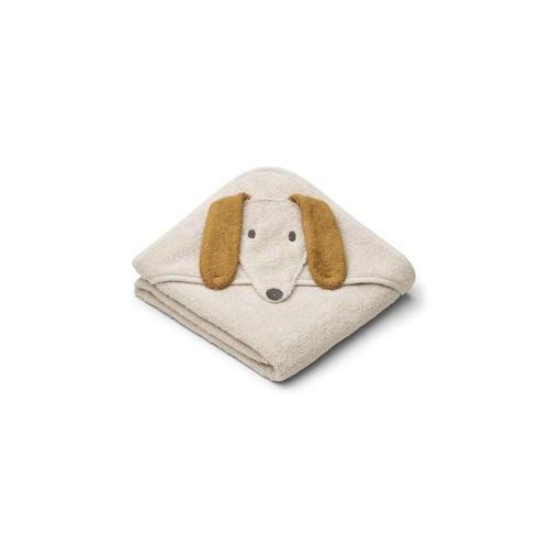 Baby badcape Albert Dog sandy - Liewood