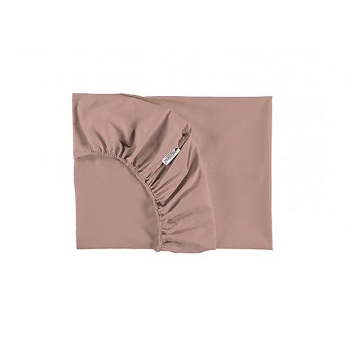 Hoeslaken Tibet Misty pink 90x200cm - Nobodinoz
