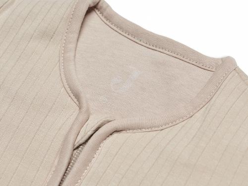 Slaapzak winter Basic Stripe nougat - afritsbare mouwen - Jollein