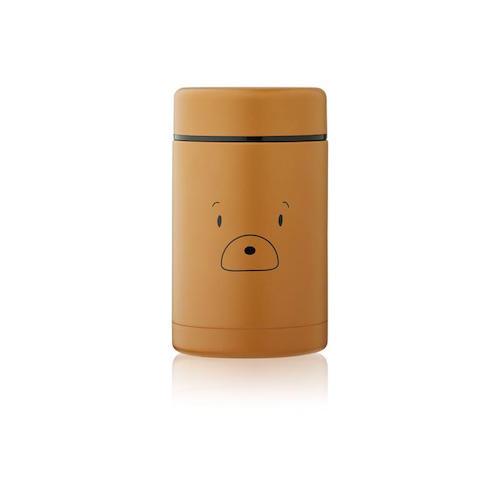 Thermosbox Bernard Mr. Bear Golden caramel - 500ml - Liewood