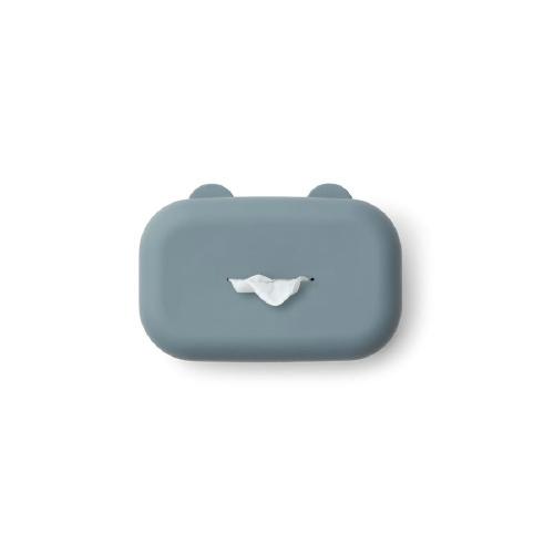 Emi hoes vochtige doekjes Whale blue - Liewood