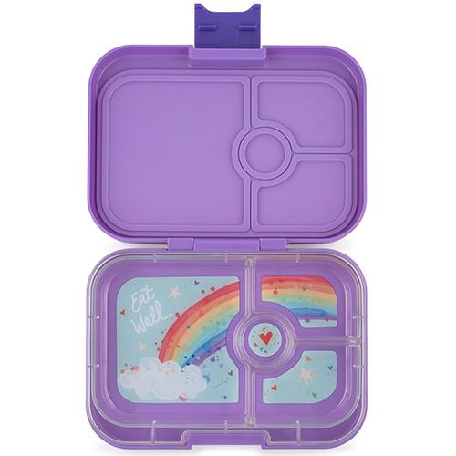 Lunchbox Panino 4 vakken Dreamy Purple Rainbow tray - Yumbox