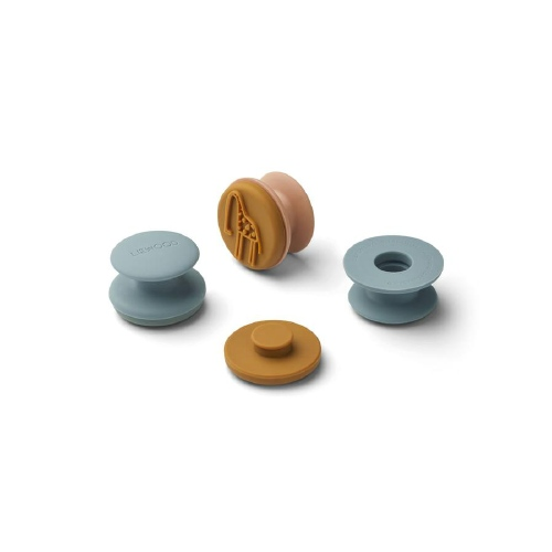 Silicone stempels Earl Golden caramel Multi mix - Liewood