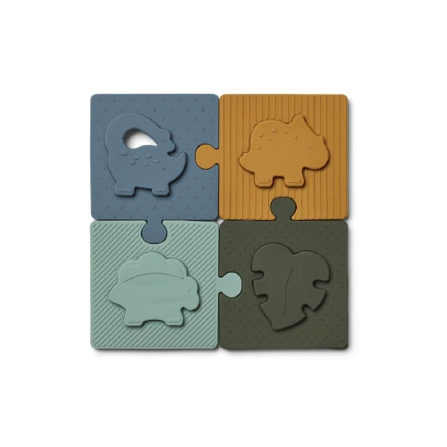 Siliconen puzzel Bodil Dino Blue multi mix - Liewood
