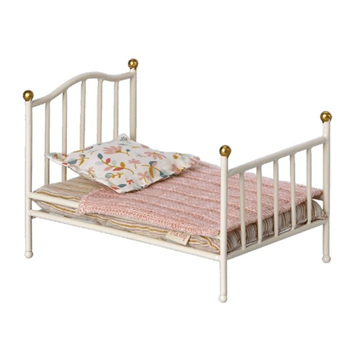Vintage bed Mouse Off White - Maileg